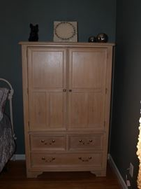 Bleached wood armoire
