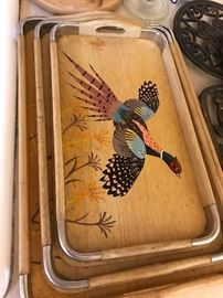 Great Painted Tray Set