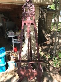 Great Old Artist Easel- About 7 feet tall