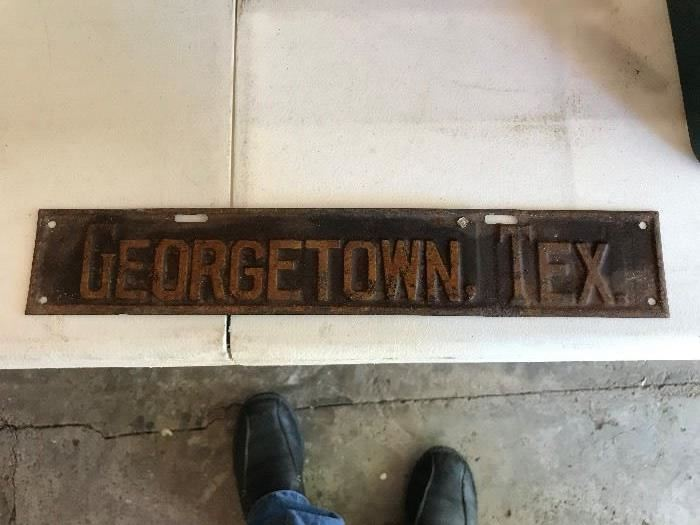 Very Very OLD Georgetown TX Sign