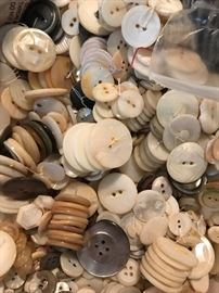 Over 300 pounds of Antique and vintage buttons. A conservative guess would be in excess of 100,000 buttons.