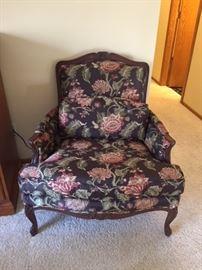 Floral Print Chair.