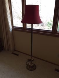 Antique Lamp with Marble Base.