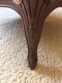 Detail of Footstool Legs.
