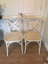 Industrial Modern Rustic Cross Back Dining Chair Classic (Set of 2) Pottery Barn