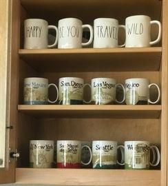 Rae Dunn Mugs and Starbucks Collectors Icon Coffee Mugs