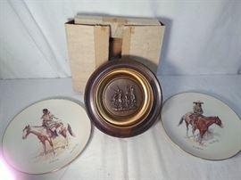 3 Frederic Remington Plates https://ctbids.com/#!/description/share/20622
