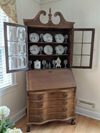 Vintage Secretary w/special-order Colonial Glass