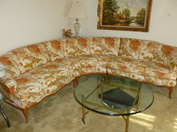 Unique vintage sectional sofa in like new condition