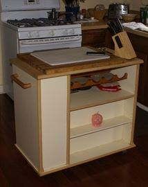 Kitchen Island with storage on Wheels