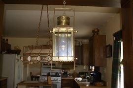 Hanging Brass Kerosene Lamp