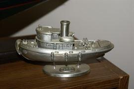 Pewter Tug Boat