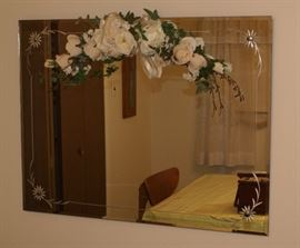 Large Etched Wall Mirror