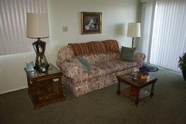 Art Van Furniture Floral Motif Sofa