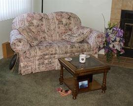 Art Van Furniture Floral Motif Love Seat