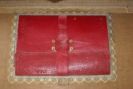 Leather Antique Trunk Inside View