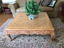 5 x 7 Rug; Coffee Table (planter & couch not for sale)