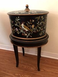 Beautiful Bird Curio Box/Table