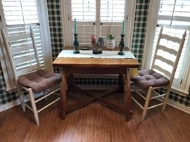Farm Table & 2 Chairs