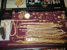 GOLD JEWELRY, GINGHER SCISSORS & GOLD FILLED