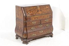18th C Dutch Marquetry Desk