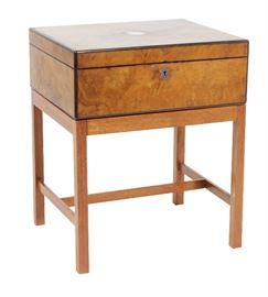 19th C. Walnut Victorian Document Box