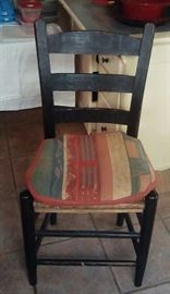 Four cane bottom chairs