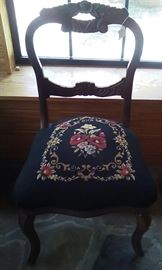 Rosewood needlepoint chair