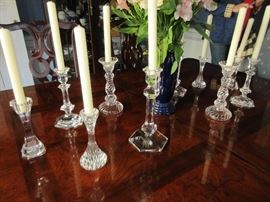 Some, not all of these crystal candle stick will be for sale