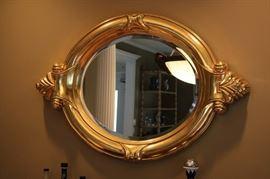 Decorative Round Gold Framed Mirror