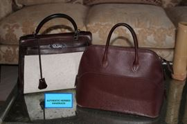 2 Authentic Hermes Hand Bags (Kelly Bag)