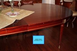 """Dining Table Extends to 144"""""""