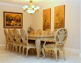 Dining room table and chairs are sold.