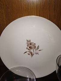 """Brown Rose"" china by Pickard (made in the USA)"