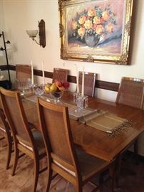 Danish Modern dining table & 8 chairs