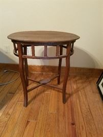 old table with character