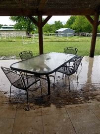 table- chairs are gone