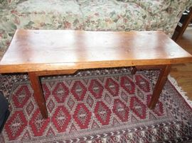 Rustic bench/table (Rug not for sale)