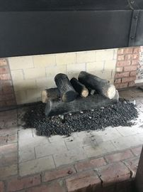 large ceramic fireplace logs   50.00