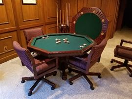 Poker table bumper pool and game table