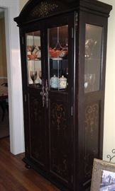 Black Antiqued Wine Cabinet