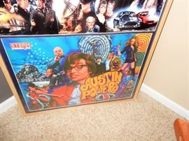 Pinball Backglass Framed and Ready