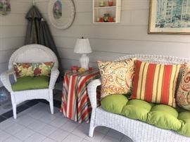 Very nice porch wicker furniture