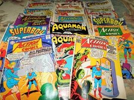 Large selection of comics, most originally 12 cent comics. Comics will be sold by group title only - Action Comics, Adventure Comics, Superman, Lois Lane, Superboy, ect. ATTN: BEFORE YOU CALL US - we do not ship or presell, you must come to the sale to buy. Thanks!