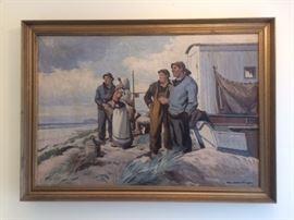 WPA era oil painting