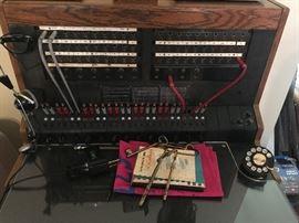 Antique switchboard unit