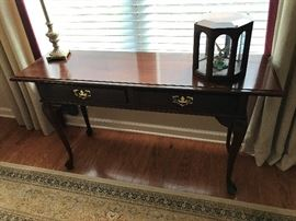 Mahogany finish sofa table