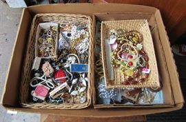 Just one of dozens of boxes of costume and quality jewelry.