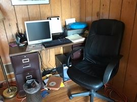 COMPUTER . DESK AND CHAIR