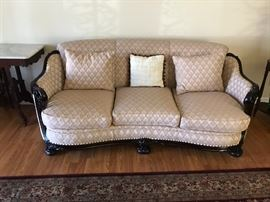 ANTIQUE SOFA AND MATCHING CHAIR